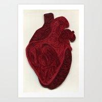 Paper Filigree Human Hea… Art Print