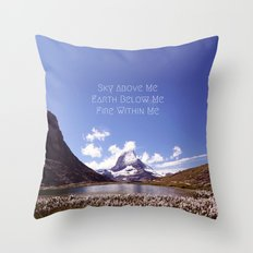 Skyrim Quote: Sky above me, Earth below me, Fire within me Throw Pillow