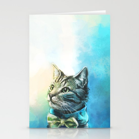 Handsome Cat Stationery Card