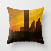 golden minneapolis Throw Pillow