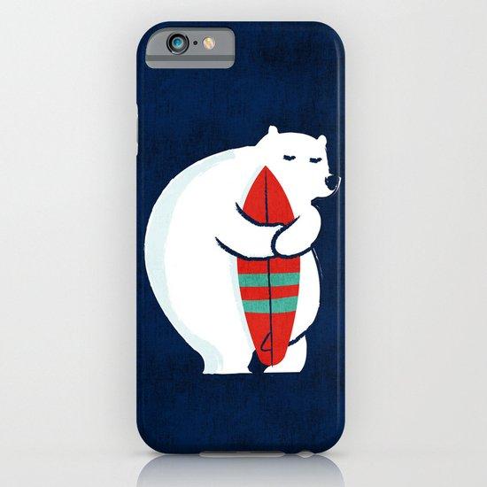 Surfing polar bear iPhone & iPod Case