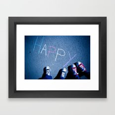 H A P P Y Framed Art Print