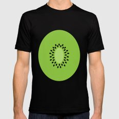 #3 Kiwi Fruit SMALL Mens Fitted Tee Black