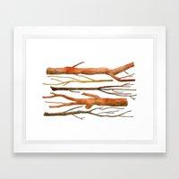 sticks no. 2 Framed Art Print