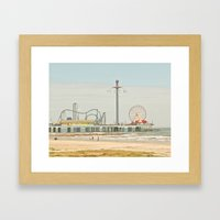 Pleasure Pier Galveston … Framed Art Print