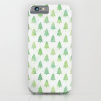 Simple Pine Tree Forest Pattern iPhone 6 Slim Case