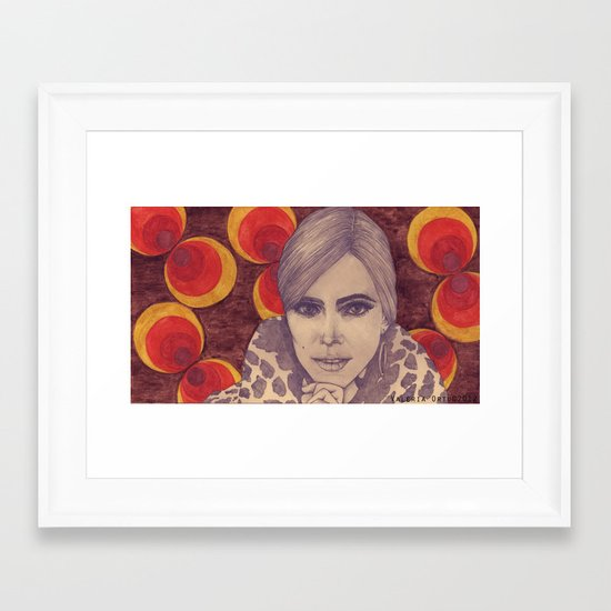Factory Girl Framed Art Print
