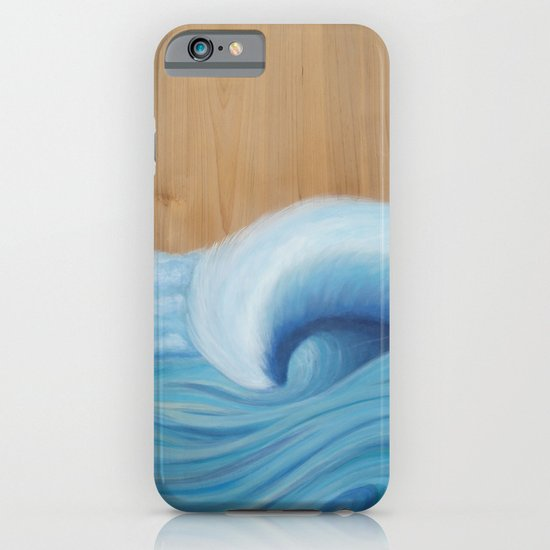 Wooden Wave Scape iPhone & iPod Case