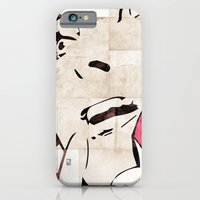 iPhone & iPod Case featuring Girl On The Phone by Ed Pires