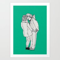 series-kiss Art Print