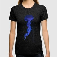 Tantalizing Womens Fitted Tee Tri-Black SMALL