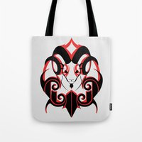 Warrior (Black & Red) Tote Bag