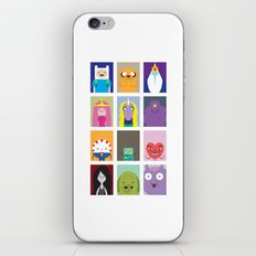 Minimalist Adventure Time Poster iPhone & iPod Skin