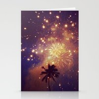 Palm Tree Fireworks Stationery Cards