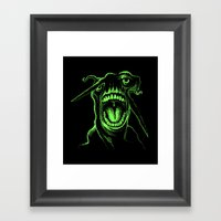Alien Scream Framed Art Print