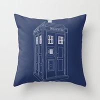 Doctor Who Tardis Throw Pillow