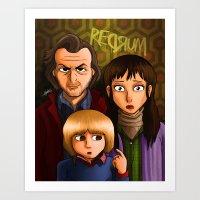 American Family Portrait (Redrum) Art Print