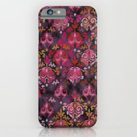 iPhone Cases featuring Damask Modern  by Rosemary A.