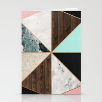 Rose Gold Hexagon Pattern Stationery Cards