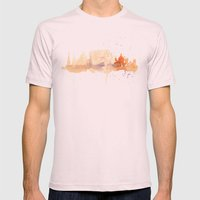 Watercolor Landscape Ill… Mens Fitted Tee Light Pink SMALL