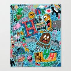 H Pattern Canvas Print