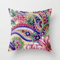 Floral Deco Throw Pillow