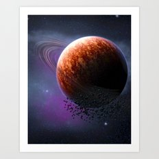 Planet In The Space Art Print