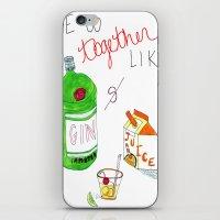 Gin & Juice iPhone & iPod Skin