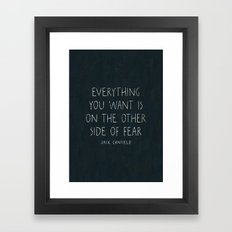 I. The other side of fear. Framed Art Print