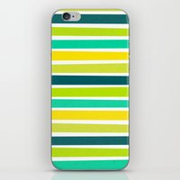 brightly coloured candy stripes iPhone & iPod Skin