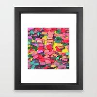 pink colored bricks Framed Art Print