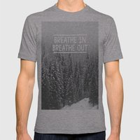 Breathe In - Breathe Out Mens Fitted Tee Athletic Grey SMALL