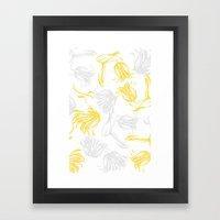 Bright Breezy Tulips Framed Art Print