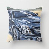 Black On Black {Cadillac… Throw Pillow