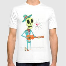 Broken Mariachi SMALL Mens Fitted Tee White