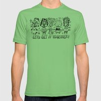 Let's get it together Mens Fitted Tee Grass SMALL