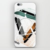 Skatestriangles iPhone & iPod Skin