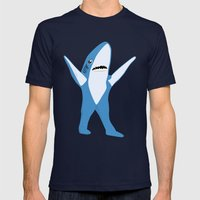 Left Shark Mens Fitted Tee Navy SMALL