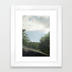 new york city, central park sky Framed Art Print