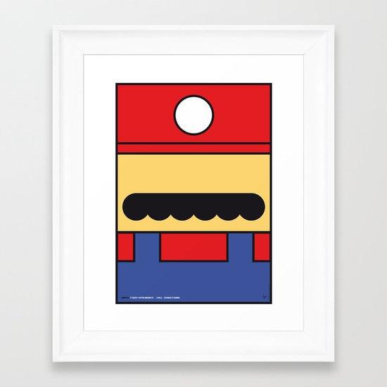 MY MARIO MARIO BROS MINIMAL POSTER Framed Art Print