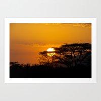 African Sun Art Print