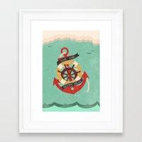 Sail The Seven Seas Framed Art Print