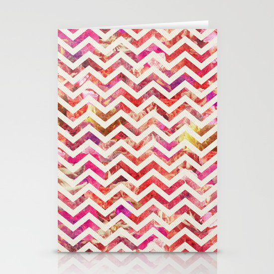 FLORAL CHEVRON Stationery Card