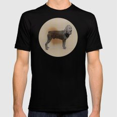 Two dogs and BOB Black Mens Fitted Tee SMALL