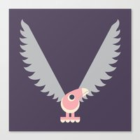 Letter V // Animal Alpha… Canvas Print