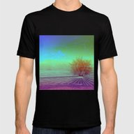 HIDDEN LAKE Mens Fitted Tee Black SMALL