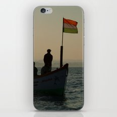 Dolphin Boat with Indian Flag Palolem iPhone & iPod Skin
