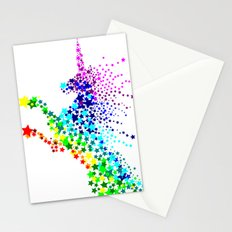 Unicorn - Licorne - Unicornio - Einhorn 02 Stationery Cards