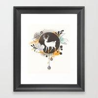 Hi Deer ! Framed Art Print