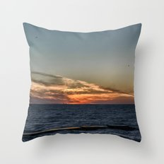 Summer sunset on lake Ontario Throw Pillow